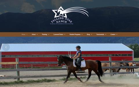 Screenshot of Press Page fallingstarranch.ca - Latest news about Falling Star Ranch Academy of Foundational Horsemanship - captured June 5, 2017