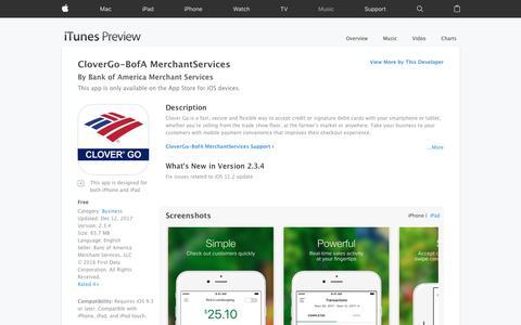 CloverGo-BofA MerchantServices on the App Store