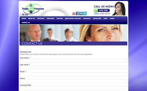 Screenshot of Contact Page peopleandprocesses.com - People And Processes | Operation Education & Consulting Services - captured Oct. 2, 2014