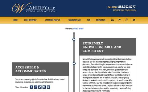 Screenshot of Testimonials Page whitleylawgroup.com - Testimonials | Houston Business Attorney - captured Feb. 14, 2016