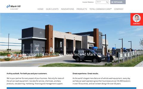 Screenshot of Home Page markvii.net - Car wash systems, car cleaning & car wash technology   Mark VII - captured Oct. 16, 2018