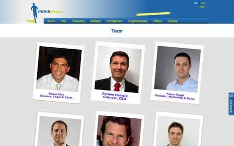Screenshot of Team Page moveeffect.com - move effect - captured Nov. 2, 2014