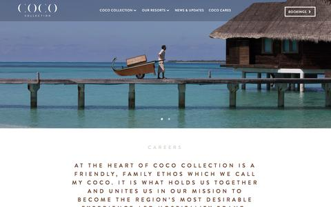 Screenshot of Jobs Page cococollection.com - Careers Within the Coco Collection Family |  Coco Collection - captured Oct. 27, 2017