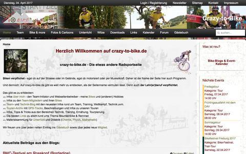 Screenshot of Home Page crazy-to-bike.de - Home - Crazy-to-Bike - captured April 4, 2017