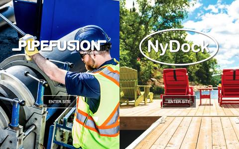 Screenshot of Home Page pipefusion.com - Pipefusion Services - NyDock Floating Docks, Pontoons - Pipes & Fittings - captured Nov. 6, 2016