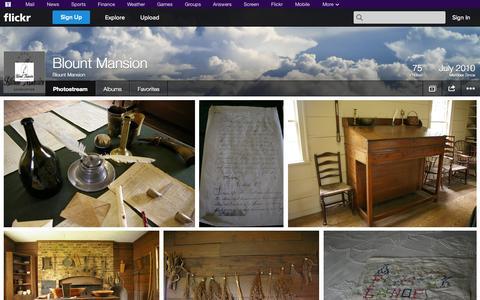 Screenshot of Flickr Page flickr.com - Flickr: Blount Mansion's Photostream - captured Oct. 23, 2014