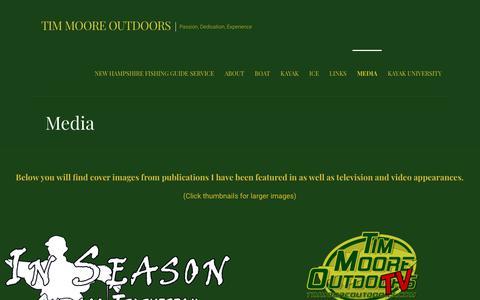 Screenshot of Press Page timmooreoutdoors.com - Media - Tim Moore Outdoors - captured Sept. 20, 2018