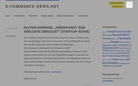 Screenshot of Home Page e-commerce-news.net - E-COMMERCE-NEWS.NET: E-Commerce-Blogs auf einen Blick - captured Jan. 20, 2016