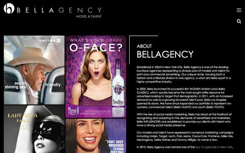 Screenshot of About Page bellaagency.com - About Us | Bella Agency New York - captured Aug. 27, 2016