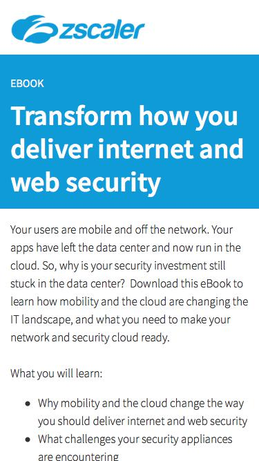 Transform how you deliver internet and web security   Zscaler