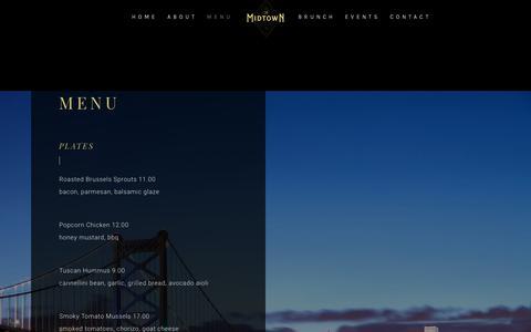 Screenshot of Menu Page themidtownphila.com - Midtown Menu – The Midtown - captured Nov. 3, 2018