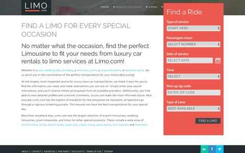 Find a Limo for Every Special Occasion | Limo.com