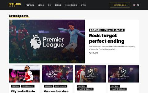 Screenshot of Blog bethard.com - Bethard Blog – Latest news, transfers, betting tips and welcome offers — Bethard Blog - captured April 25, 2019