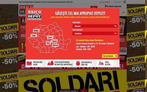 Screenshot of Home Page bricodepot.ro - BricoDepot - Militari - captured Jan. 26, 2015