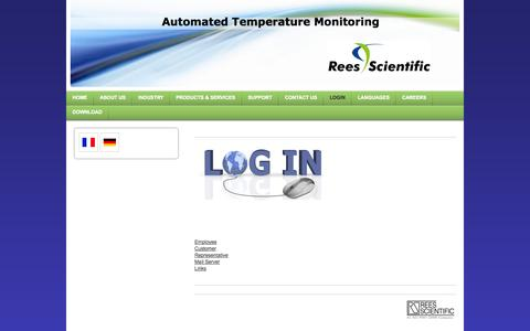 Screenshot of Login Page reesscientific.com - For Employees, Customers, Representatives, Mail server, Links - captured Oct. 7, 2014