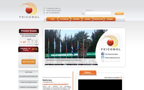Screenshot of Home Page feicobol.com.bo - Inicio - Fundaci�n para la Feria Internacional de Cochabamba - captured Jan. 8, 2016