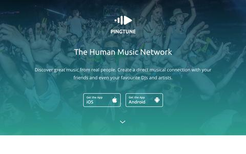 Screenshot of Home Page pingtune.com - PingTune - The Human Music Network - captured Sept. 12, 2014