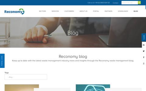 Screenshot of Blog reconomy.com - Reconomy Insights - Our Waste Management & Recycling Blog - captured July 13, 2018