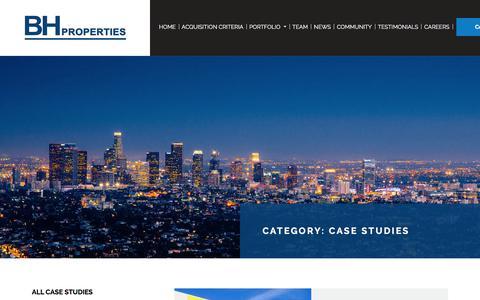 Screenshot of Case Studies Page bhproperties.com - Case Studies Archives | BH Properties - captured July 31, 2018
