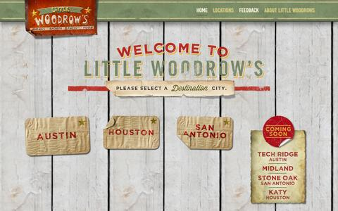 Screenshot of Home Page littlewoodrows.com - Little Woodrow's - captured Jan. 26, 2015