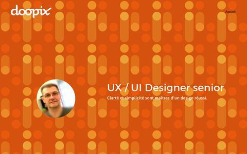 Screenshot of Home Page doopix.com - Accueil - captured June 5, 2017