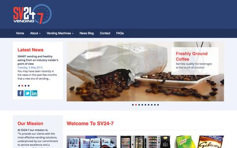 Screenshot of Home Page sv24-7.co.uk - Welcome to SV24-7 - captured Sept. 12, 2015