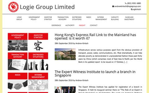 Screenshot of Blog logiegroup.com - Insight - Logie Group Limited - captured Sept. 29, 2018