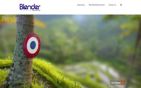 Screenshot of Home Page blendernetworks.com - BlenderNetworks - captured Jan. 20, 2016