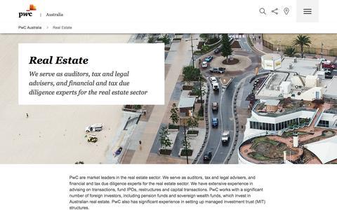 Services to the real estate companies - PwC Australia
