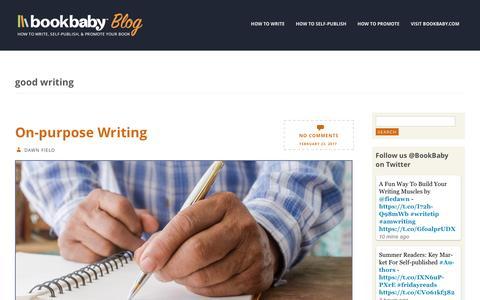 Screenshot of Blog bookbaby.com - good writing | BookBaby Blog - captured Feb. 27, 2017