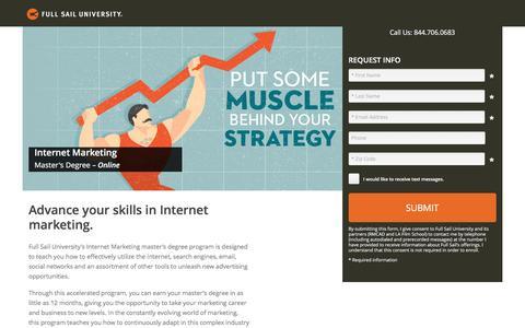 Screenshot of Landing Page fullsail.edu - ion marketing experience platform - captured Oct. 31, 2016