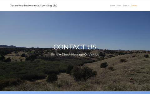 Screenshot of Contact Page cornerstone-environmental.com - Contact – Cornerstone Environmental Consulting, LLC - captured Sept. 29, 2018