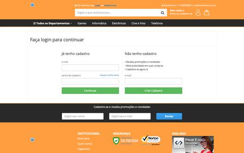 Screenshot of Login Page multistock.com.br - Multi Stock - captured Oct. 18, 2018