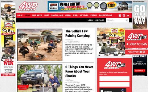 Screenshot of Press Page 4wdaction.com.au - News | Australian 4WD Action - captured July 18, 2016