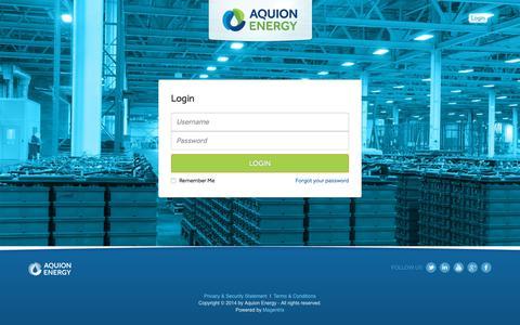 Screenshot of Login Page aquionenergy.com - Login | Aquion Energy Portal | Aquion Energy - captured July 7, 2018