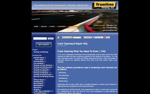 Screenshot of Blog trueline.net - Trueline Striping, Inc. Parking Lot Striping - captured Oct. 9, 2014