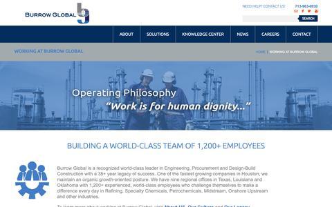 Screenshot of Jobs Page burrowglobal.com - Burrow Global Career Opportunities   Burrow Global Companies - captured Dec. 26, 2018