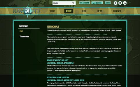 Screenshot of Testimonials Page navelite.com - Testimonials - captured Oct. 26, 2014