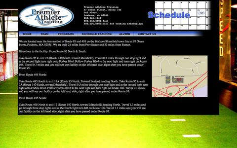 Screenshot of Maps & Directions Page premierathletetraining.com - Premier Athlete Training - captured Sept. 30, 2014