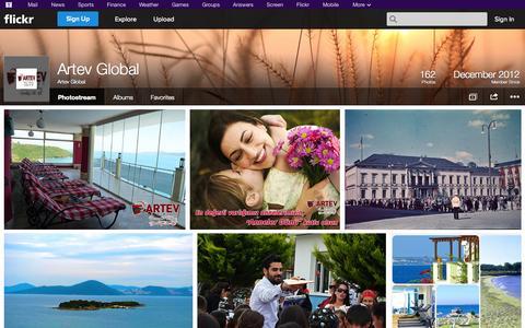 Screenshot of Flickr Page flickr.com - Flickr: Artev Global's Photostream - captured Oct. 23, 2014