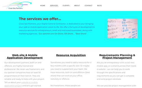 Screenshot of Services Page cross-sea-partners.com - Services - Cross Sea Partners - captured Nov. 11, 2018
