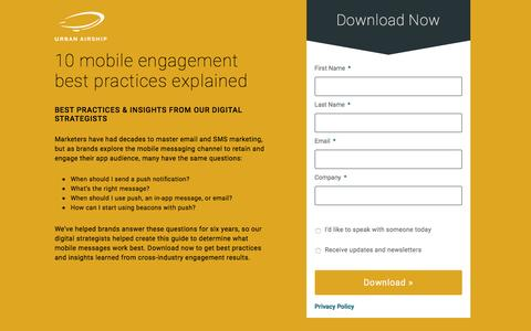 10 Mobile Engagement Best Practices Explained