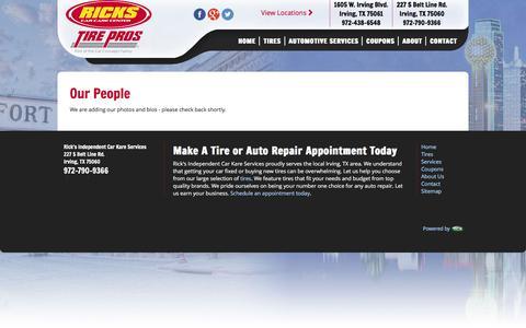 Screenshot of Team Page ricks-inc.com - Ricks Automotive Services - People - captured March 3, 2016