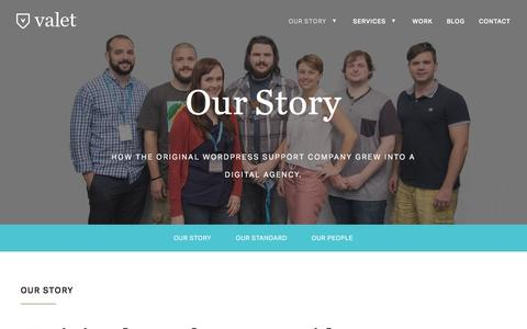 Screenshot of Team Page valet.io - Our Story - Valet - captured Feb. 13, 2016