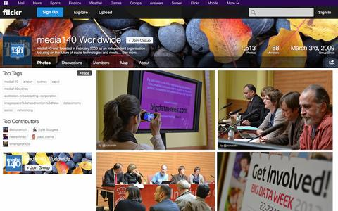 Screenshot of Flickr Page flickr.com - Flickr: The media140 Worldwide Pool - captured Oct. 26, 2014