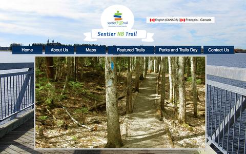 Screenshot of Home Page Maps & Directions Page sentiernbtrail.com - sentier-nb-trail - captured May 26, 2017