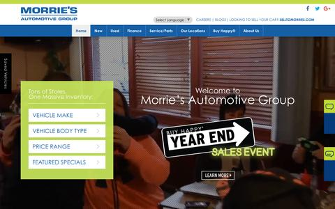 Screenshot of Home Page morries.com - Morrie's Automotive Group | New & Used Car Dealer in MN & WI - captured Dec. 14, 2016