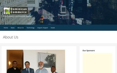 Screenshot of About Page dominicancommerce.com - About Us - captured Aug. 7, 2018
