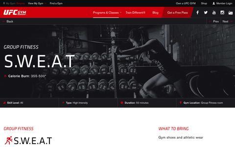 SWEAT Classes & Training | Gym & Fitness | UFC GYM
