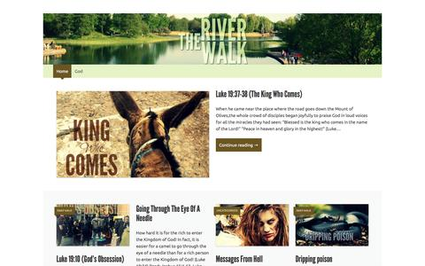 Screenshot of Home Page tworiversblog.com - THE RIVER WALK | Daily Thoughts and Meditations as we journey together with our Lord. - captured April 19, 2016